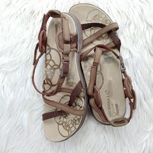 MERRELL LEATHER & CANVAS STRAP SANDAL SZ 7